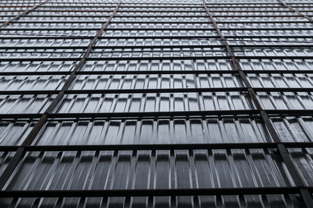 Metal building construction wall background