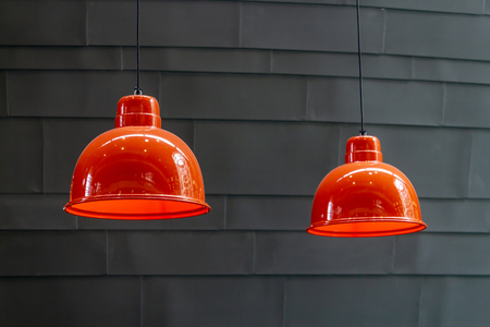Ceiling lamp on gray background