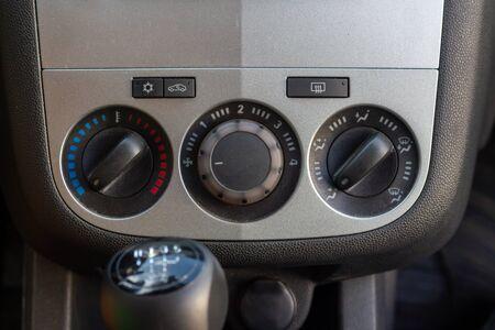 Car air conditioner manual control panel