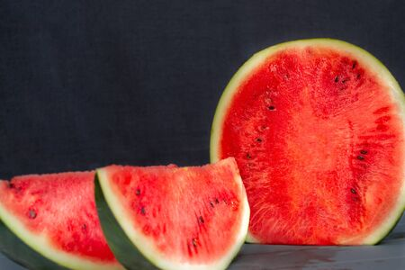 Watermelon on black background Watermelon on black background