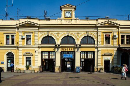 Belgrade  Serbia - October 15 2013: Belgrade Center railway station Editöryel