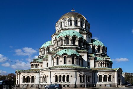 Sofia  Bulgaria - October 18 2013: Saint Aleksandar Nevski Cathedral in Sofia