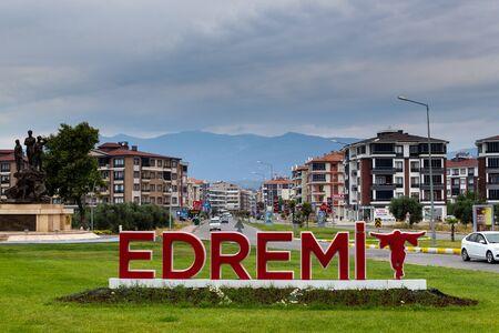 Edremit, Balikesir  Turkey - July 14 2019: Edremit district