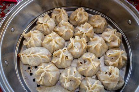 Central asia traditional food; Ravioli, Manti, Khinkali