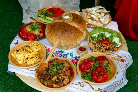 Moldova cuisine traditional foods, dishes Stok Fotoğraf