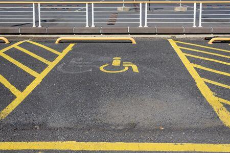 Disabled parking space, disabled sign Stok Fotoğraf