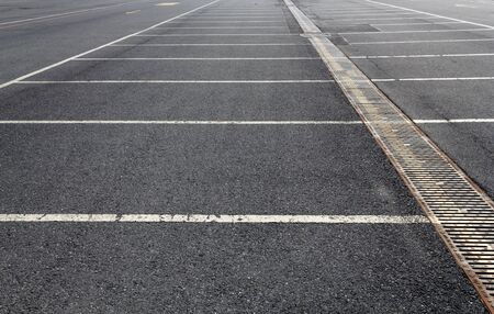 Empty car parking lot area outdoors