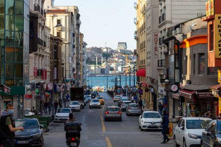 Eminonu, Istanbul / Turkey - June 01 2020: Sirkeci Ankara Street view