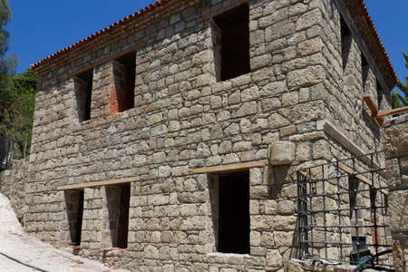 Natural stone house building construction
