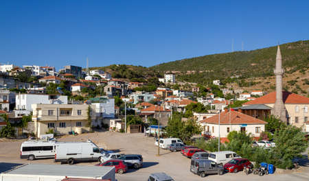 Babakale, Canakkale / Turkey - July 18 2020: Babakale Castle and town center Turkey and the western most point of continental Asia