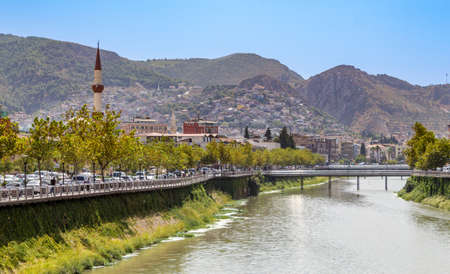 Hatay, Antakya city center and Asi River view. Turkey 版權商用圖片