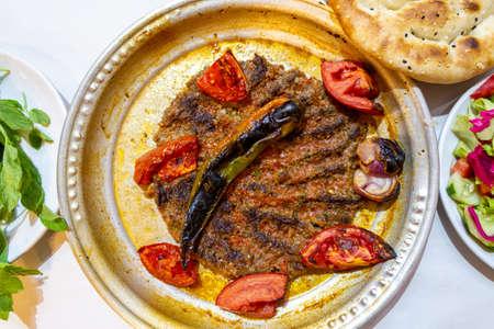 Tepsi kebab (Tray kebab) Local Antakya, Hatay cuisine kebab 版權商用圖片