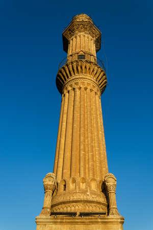 Sehidiye Mosque minaret. Mardin, Turkey 版權商用圖片