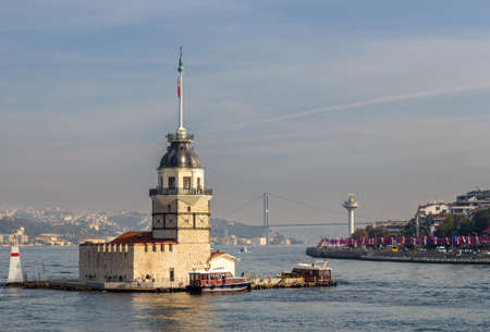 Maiden's Tower in Istanbul view from the sea