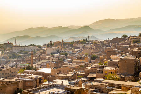 Panoramic view of Old Mardin city. Turkey