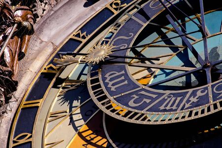 Prague. Astronomical clock in the historical city center photo