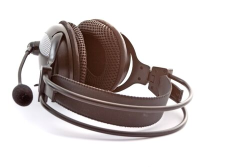 aural: big black headphones on a white background
