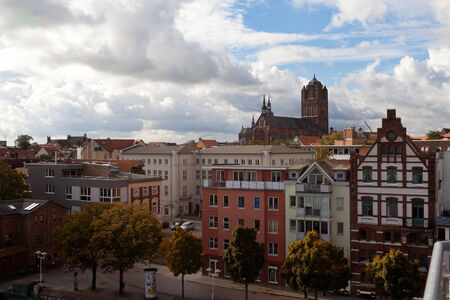 German city Stralsund on the Baltic Sea