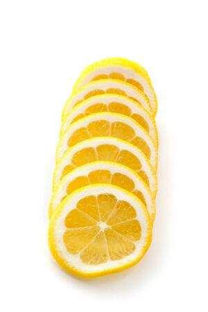 lemon slices: Lemon slices on white background Stock Photo