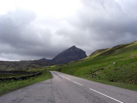 Lonley Road in Scotish Highlands photo