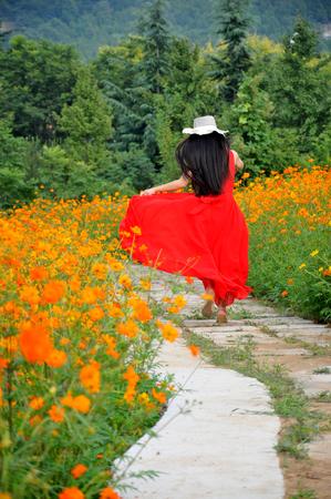 red dress: women wear red dress