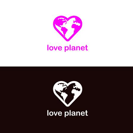 hearth: Minimalistic Planet Earth in hearth sign