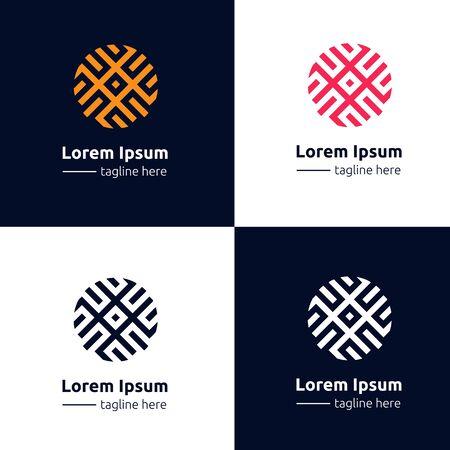 ロゴ飾り幾何学模様アイコン抽象的な記号