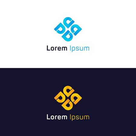 Abstract sign D symbol design