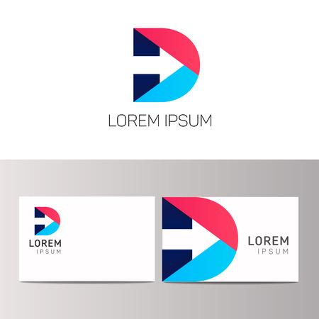 D letter  sign design