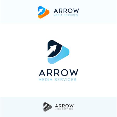 Arow play logo sign icon vector design