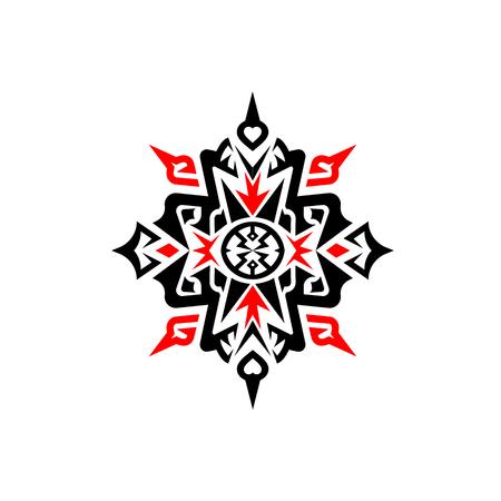 抽象的な幾何学模様の飾り記号ベクトル デザイン