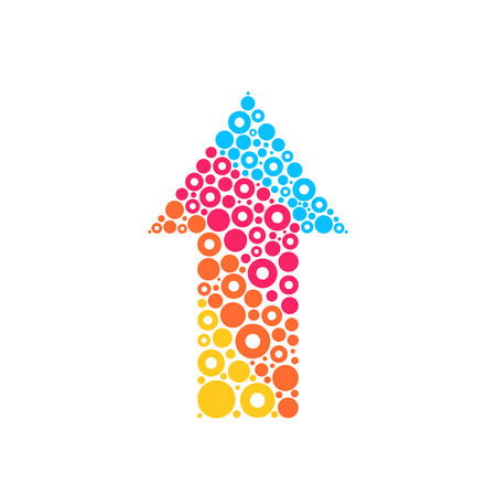 rounds: Abstract colorful arrow sign vector design Illustration