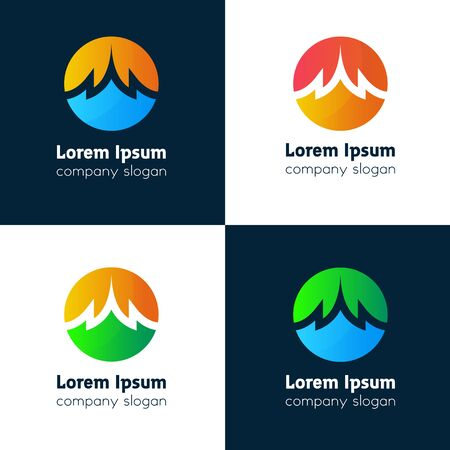 touristic: Abstract ornament touristic logotype company icon sign vector design