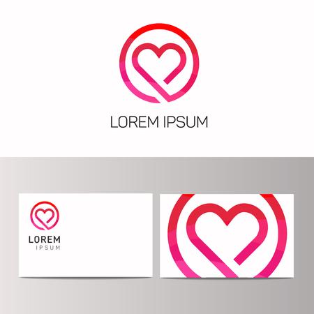 acquaintance: Abstract minimalistic hearth love icon logo sign vector design Illustration