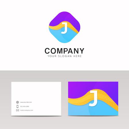 rhomb: Absract J letter in rhomb logo icon. Fun company logo sign vector design.