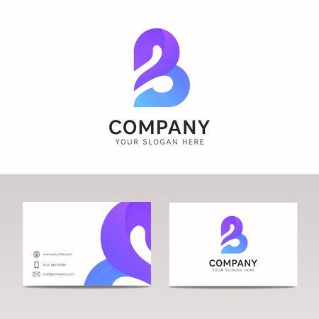 Flat B letter icon signer logo de l'entreprise logo vectoriel