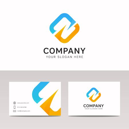 Abstract rhombus logo icon company sign vector design
