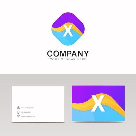 rhomb: Absract X letter in rhomb logo icon. Fun company logo sign vector design. Illustration