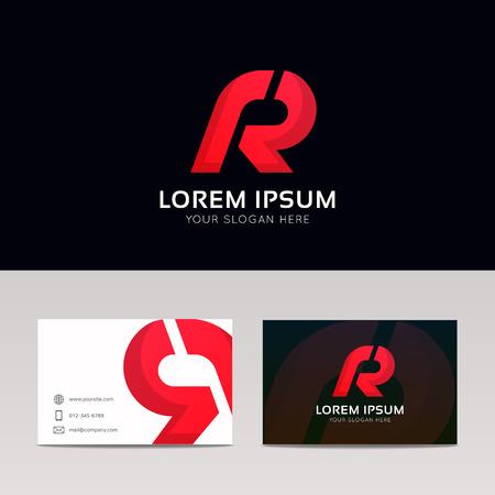 Abstract R logo lettre signe icône société symbole vecteur design