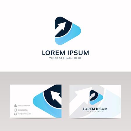 logotype: Abstract play sign company vector logotype