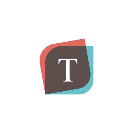 multiply: T letter icon retro logo design. Vintage company sign vector design. Illustration