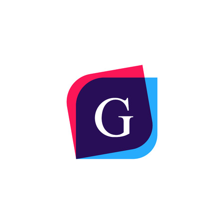 multiply: Abstract G letter logo company icon. Creative vector emblem brand identity sign.