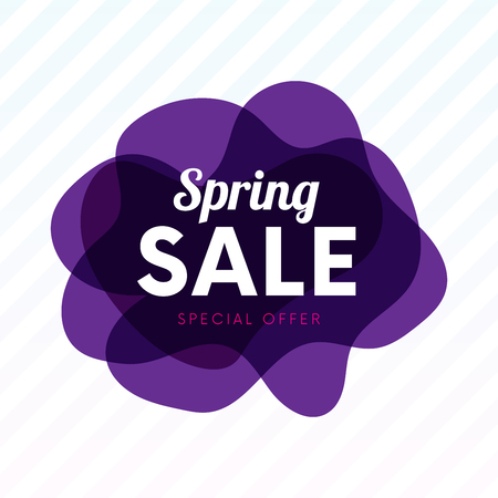 Abstract blot with spring sale deal banner poster vector illustration. Illustration