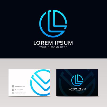 Letter L circle logo icon button sign vector design