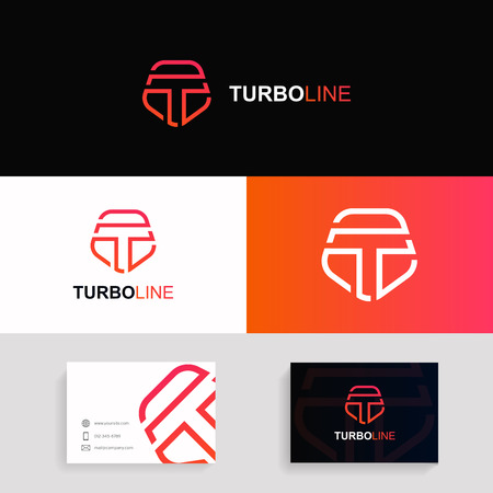 Letter T logo icon shield icon protection sign vector design. Company branding with business card. Logo