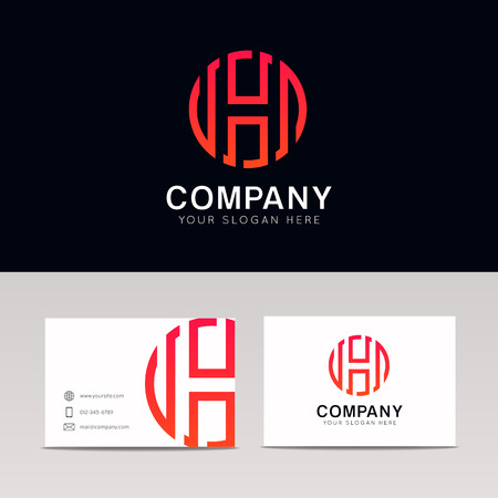 Abstrakte H Logo Buchstaben Symbol Vektor Template-Design