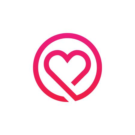Abstract vector het ontwerp van het het teken minimalistic pictogram van het liefdeembleem