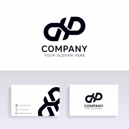 Vector dp logo icon company sign vectror design with brand business card.