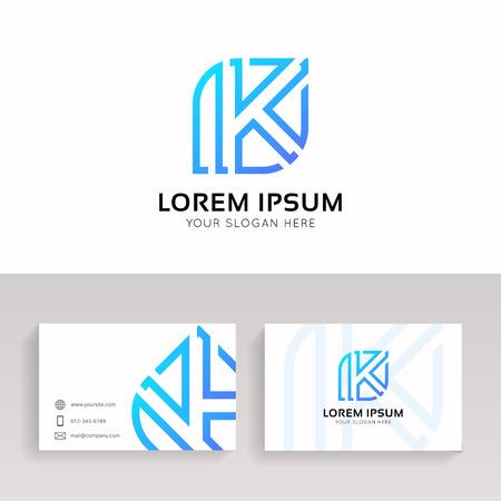Letter K logo clean icon sign design.