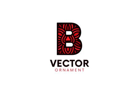 Letter B logo flat icon sign design. Logo